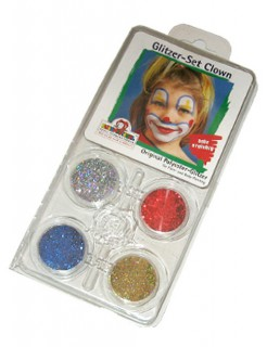 Glitzer Set Clown Schminkset 4-teilig bunt 20g