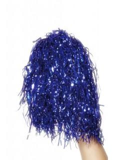 Pom Poms für Cheerleader blau