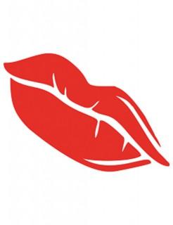 Selbstklebe-Schablone Kussmund rot