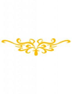 Selbstklebe Schablone Schnörkel Make-Up Zubehör gelb