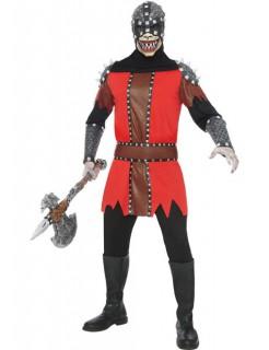 Horror Henker Halloween Kostüm schwarz-rot