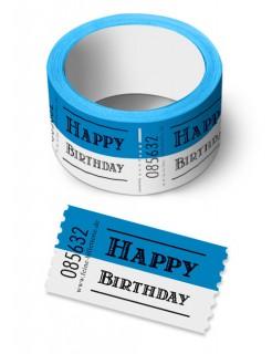 Wertmarke Happy Birthday Geburtstagsgeschenk Geschenkartikel blau-weiss