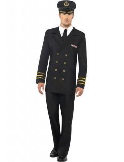 Marine Offizier Kapitän Kostüm schwarz-gold