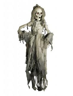 Skelettbraut Halloween-Deko weiss-grau 150cm