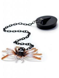 Stöpsel mit Spinne Scherzartikel schwarz-braun-weiss 8 cm