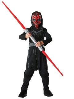 Darth Maul Star Wars Original Lizenz Kinderkostüm schwarz-rot