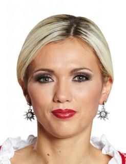 Edelweiss Bayern Tracht Dirndl Ohrringe weiss