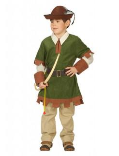Bogenschütze Mittelalter Kinderkostüm grün-braun