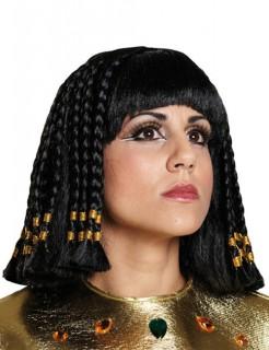 Cleopatra Ägypterin Antike Pagenkopf Perücke schwarz-gold