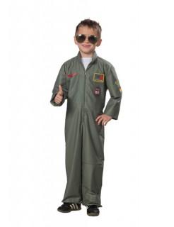 Jetpilot Pilot Flieger Kinderkostüm khaki