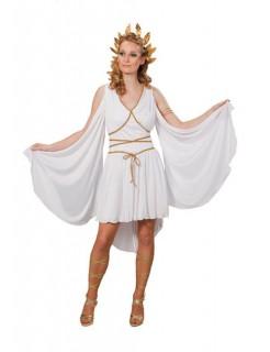 Griechin Römerin Göttin Antike Damenkostüm weiss-gold