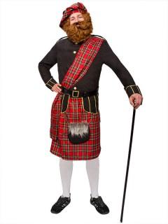 Schotte Highlander Kostüm schwarz-gold-rot