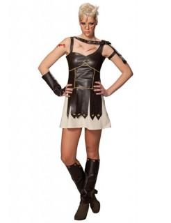 Gladiatorin Amazone Kriegerin Antike Damenkostüm braun-beige