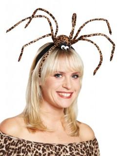 Leo Spinnen Halloween Haarreif schwarz-braun