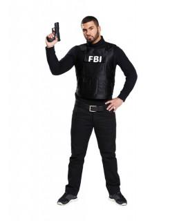 FBI kugelsichere Weste Polizist Kostüm schwarz-weiss