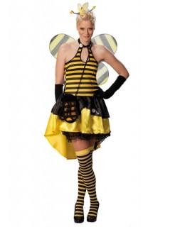 Sexy Bienchen Damenkostüm schwarz-gelb