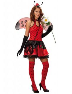 Marienkäfer Glückskäfer Damenkostüm rot-schwarz