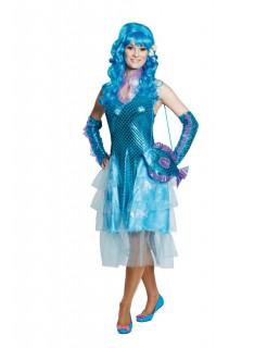 Meerjungfrau Damenkostüm Wasserfee türkis-hellblau