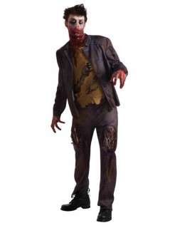 Zombie Halloween Kostüm schwarz-khaki