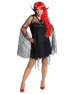 Vampirin Hexe Gothic Halloween Damenkostüm schwarz