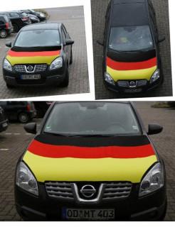 Deutschland-Fahne Motorhaubenabdeckung Fussball-Fanartikel schwarz-rot-gold 80x110cm