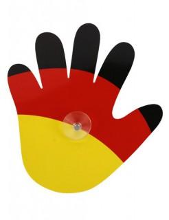 Deutschland Sonnenschutz Autodeko Fussball-Fanartikel schwarz-rot-gelb 19x17cm