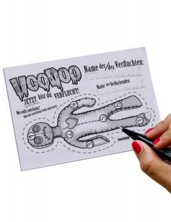 Voodoo-Fluch Quittungsblock Scherzartikel grau DIN A6