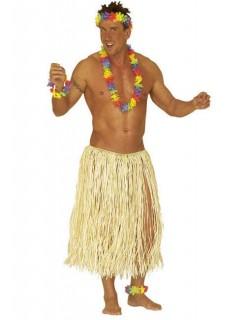 Hawaii Bastrock für Herren Kostüm-Zubehör lang beige