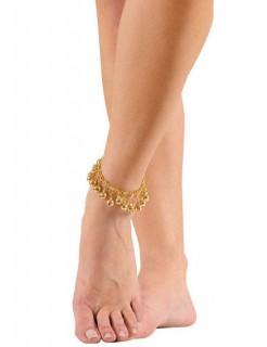 Orient Bauchtänzerin Fußkettchen gold