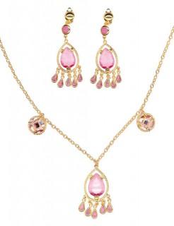 Orient Bauchtänzerin Schmuck-Set gold-rosa