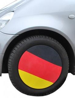 Deutschland-Fahne Auto-Felgenkappe Fussball-Fanartikel 4 Stück schwarz-rot-gelb