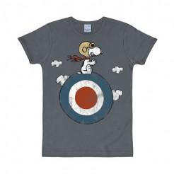 Peanuts T-shirt Snoopy Target Slim Fit Fanshirt blau-bunt