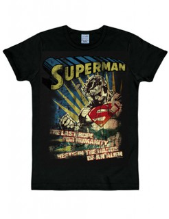 Superman™-T-Shirt The Last Hope Slim Fit schwarz-bunt