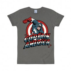 Captain America™-Shirt Marvel™-Lizenzshirt grau-bunt