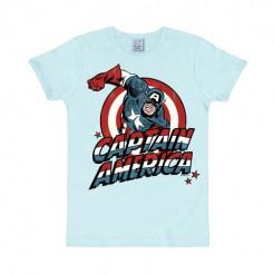Captain America™-T-Shirt Marvel™-Lizenzshirt hellblau-bunt