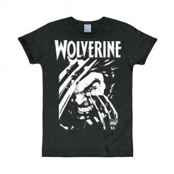 Wolverine™-T-Shirt Marvel™-Lizenzprodukt schwarz-weiss