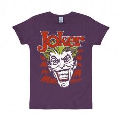 Joker™-T-Shirt Batman™-Lizenzprodukt violett-bunt