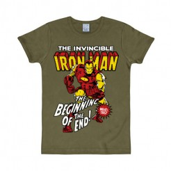 Iron Man™-Fanshirt slim fit olivgrün-bunt