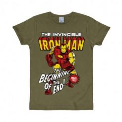 Iron Man™-Fanshirt slim fit olivgrün-bunt