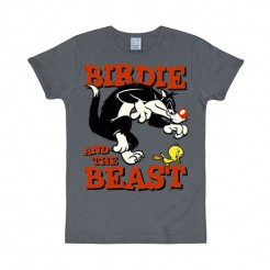Looney Tunes Fanshirt Birdie and the Beast grau-orange