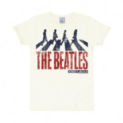 The Beatles™ T-Shirt Vintage Abbey Road Slim Fit weiss-blau-rot
