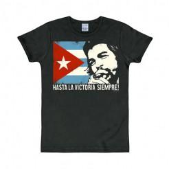 Che Guevara T-Shirt kubanische Flagge Slim Fit schwarz-bunt