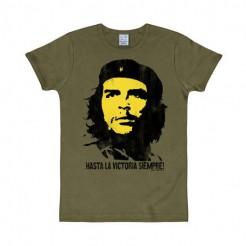 Che Guevara T-Shirt  Hasta la victoria siempre  slim-fit olive-bunt