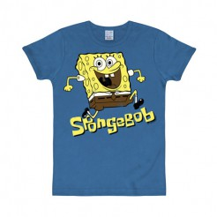 Spongebob™-T-Shirt blau Fan-T-Shirt Slim Fit blau-gelb