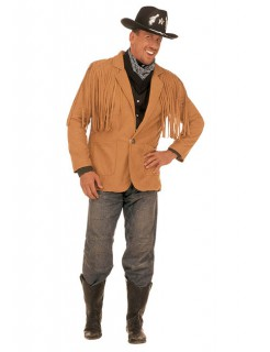 Cowboy Western Jacke mit Fransen Unisex hellbraun