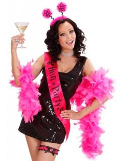 Satin Schärpe Hen Party Junggesellinnen-Abschied schwarz-pink