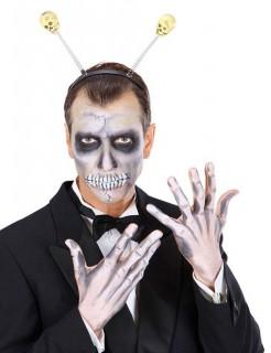 Halloween Skull Haarreif Totenkopf schwarz-weiss