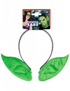 Koboldohren Haarreif Kostümzubehör grün-schwarz