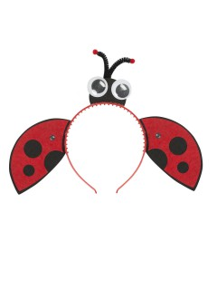 Haarreif Marienkäfer mit Flügeln und Augen rot-schwarz
