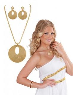 Römerin Schmuckset Halskette und Ohrringe gold